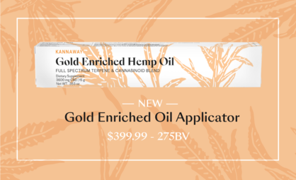 Introducing Kannaway's New Gold Enriched Oil Applicator
