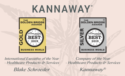 Kannaway CEO Blake Schroeder and Company Honored in 11th Annual Golden Bridge Awards