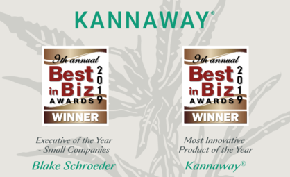 Kannaway Receives Two Best in Biz Awards