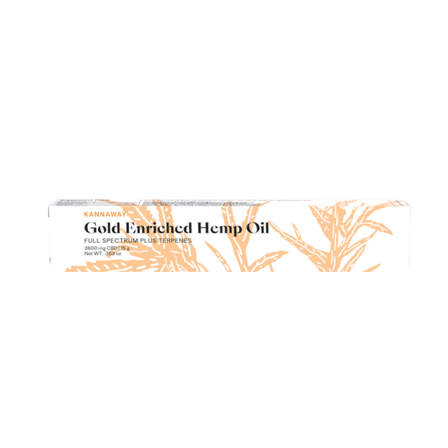 Gold Enriched Hemp Oil - 3600mg