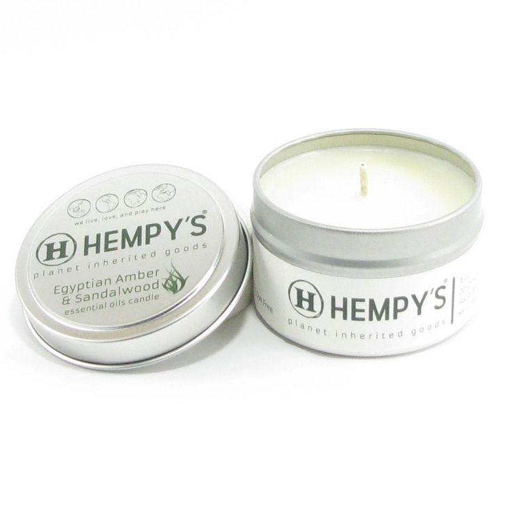 Hemp Candle – Egyptian Amber & Sandalwood