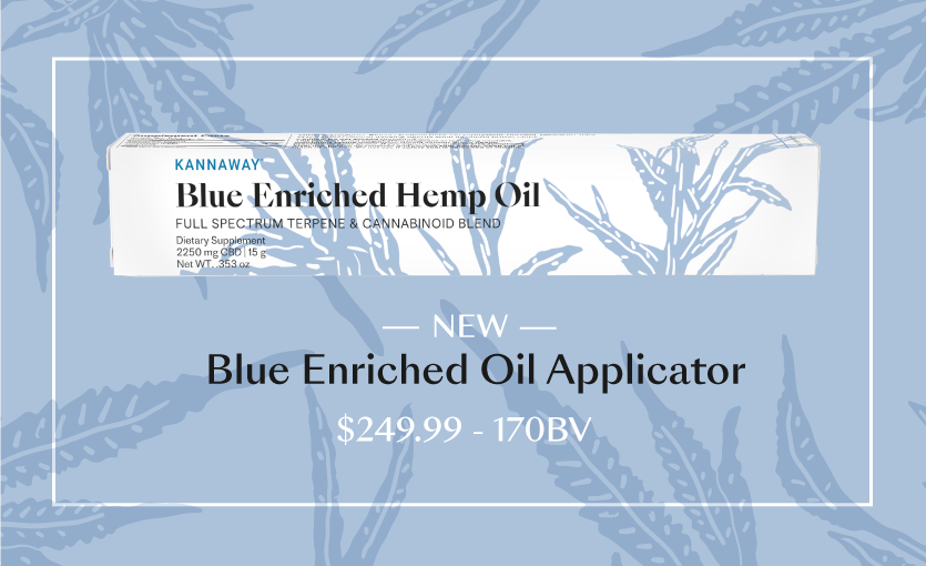 Introducing Kannaway's New Blue Enriched Oil Applicator