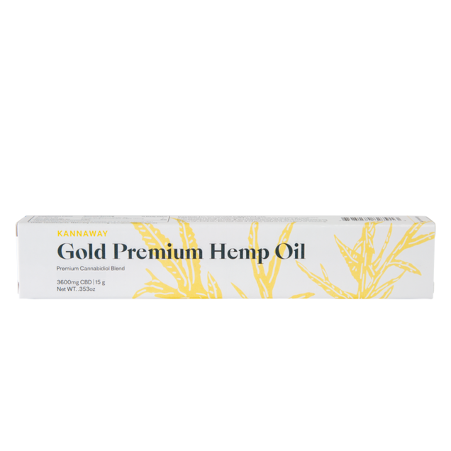 Gold Premium Hemp Oil Oral Applicator - 3600mg