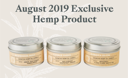 Announcing Limited Release of Kannaway's New Hemp Candle Trio
