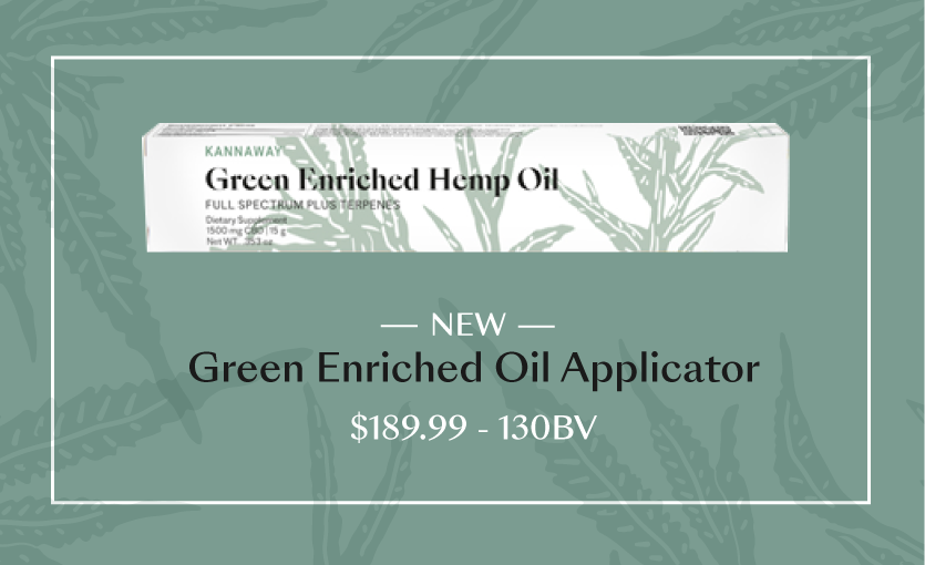 Introducing Kannaway's New Green Enriched Oil Applicator